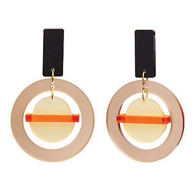 Toolally The Planets Drop Earrings, Nude