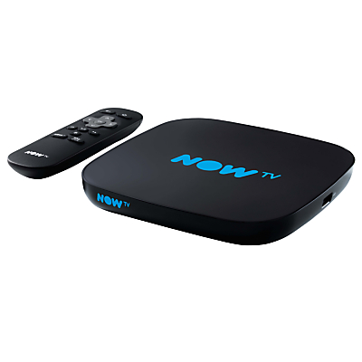 NOW TV Smart TV Box with Pause & Rewind, with 4 Month Movies Pass, Black
