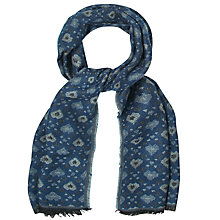 Buy White Stuff Jacquard Heard Scarf, Blue Online at johnlewis.com