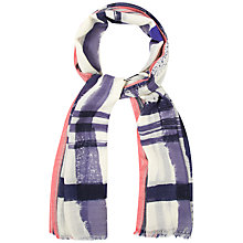 Buy White Stuff Painterley Scarf, Blue Online at johnlewis.com