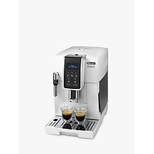 Buy De'Longhi ECAM350.35.W Dinamica Bean to Cup Coffee Machine, White Online at johnlewis.com