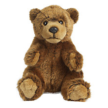 Buy Living Nature Brown Bear Soft Toy, 18cm Online at johnlewis.com