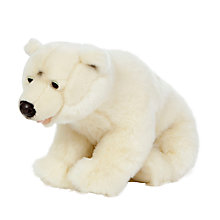 Buy Living Nature Polar Bear Soft Toy, 60cm Online at johnlewis.com