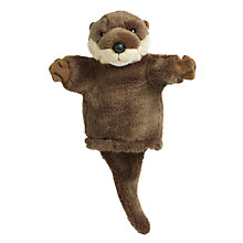Buy Living Nature Otter Hand Puppet Soft Toy Online at johnlewis.com