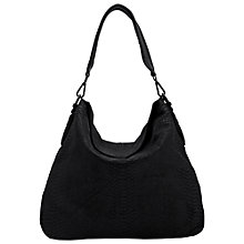 Buy Liebeskind Yokohama B Python Leather Hobo Bag, Ninja Black Online at johnlewis.com