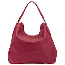 Buy Liebeskind Yokohama Double Leather Hobo Bag, Cherry Blossom Red Online at johnlewis.com