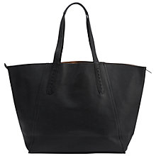 Buy Liebeskind Niigata Reversible Leather Shopper Bag, Ninja Black Online at johnlewis.com