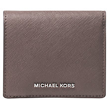Buy MICHAEL Michael Kors Jet Set Travel Leather Card Case, Cinder Online at johnlewis.com