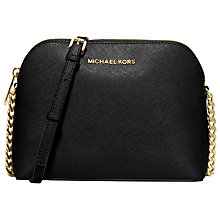 Buy MICHAEL Michael Kors Cindy Large Leather Dome Across Body Bag Online at johnlewis.com