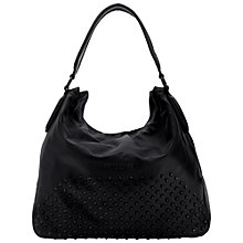 Buy Liebeskind Yokohama Double Leather Hobo Bag, Ninja Black Online at johnlewis.com