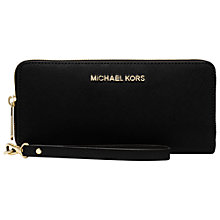 Buy MICHAEL Michael Kors Jet Set Travel Continental Leather Purse Online at johnlewis.com