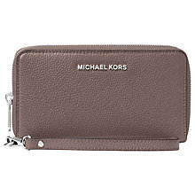 Buy MICHAEL Michael Kors Mercer Travel Continental Leather Purse, Cinder Online at johnlewis.com