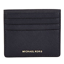 Buy MICHAEL Michael Kors Jet Set Travel Leather Card Holder, Admiral Online at johnlewis.com
