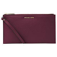 Buy MICHAEL Michael Kors Mercer Large Leather Clutch Purse Online at johnlewis.com