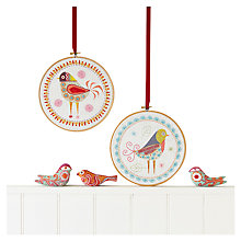 Buy Nancy Nicholson Birdie One Embroidery Kit Online at johnlewis.com