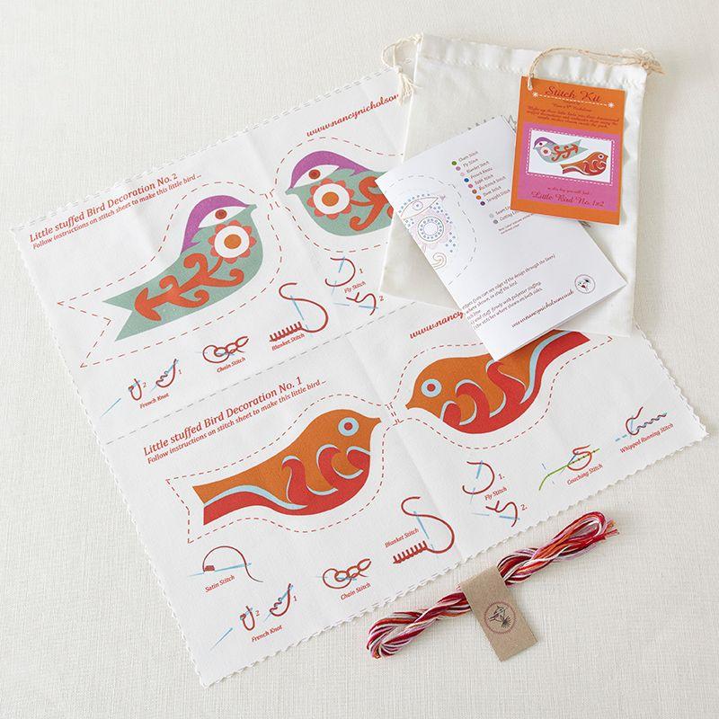 Buy Nancy Nicholson Little Birds Decoration Embroidery Kit ...
