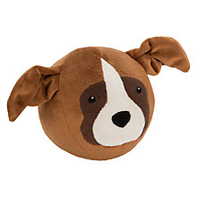 Buy John Lewis Buster the Boxer Dog Bounce Plush Soft Toy, Brown, H12cm Online at johnlewis.com