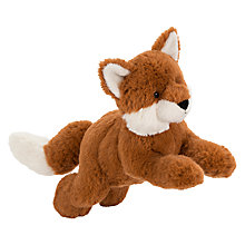 Buy John Lewis Buster the Boxer Otto the Fox Pouncing Plush Soft Toy, Brown, H18cm Online at johnlewis.com