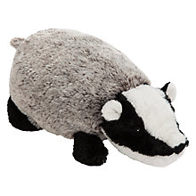 Buy John Lewis Buster the Boxer Betsy the Badger Plush Soft Toy, Grey/Multi, H10cm Online at johnlewis.com