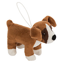 Buy John Lewis Buster the Boxer Dog Christmas Tree Decoration, Brown, H9cm Online at johnlewis.com