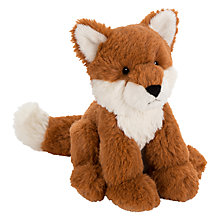 Buy John Lewis Buster the Boxer Olivia the Fox Sitting Plush Soft Toy, Brown, H18cm Online at johnlewis.com