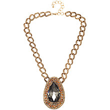Buy Adele Marie Large Link Pendant Necklace, Gold/Multi Online at johnlewis.com