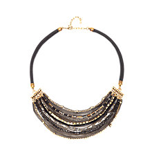 Buy Adele Marie Statement Layered Bead and Chain Necklace, Black/Brown Online at johnlewis.com