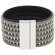 Buy Adele Marie Fine Mesh Chain Diamante Cuff, Silver Online at johnlewis.com