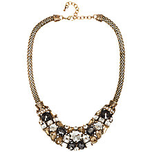 Buy Adele Marie Mesh Oval Chain Collar Necklace, Gold/Multi Online at johnlewis.com