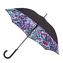 Buy Fulton Bloomsbury Floral Haze Printed Umbrella, Black/Multi Online at johnlewis.com