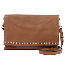 Buy Mint Velvet Sophia Studded Across Body Bag, Tan Online at johnlewis.com