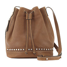 Buy Mint Velvet Bridget Bucket Bag, Tan Online at johnlewis.com