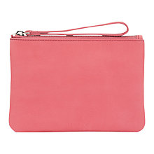Buy Jigsaw Ava Mini Leather Pochette Clutch Bag Online at johnlewis.com