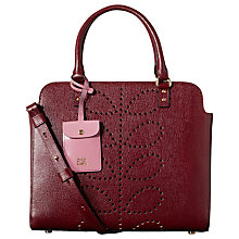 Buy Orla Kiely Textured Leather Jeanie Bag, Berry Online at johnlewis.com