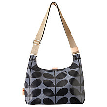 Buy Orla Kiely Solid Stem Print Mini Sling Bag, Midnight Blue Online at johnlewis.com