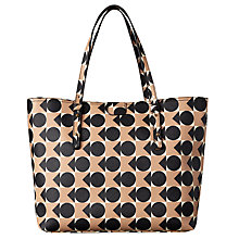 Buy Orla Kiely Spot Square Triangle Print Vinyl Tillie Workbag, Blush Online at johnlewis.com