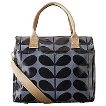 Buy Orla Kiely Laminated Solid Stem Print Messenger Bag, Midnight Blue Online at johnlewis.com