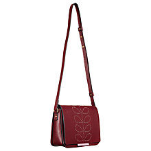 Buy Orla Kiely Ivy Textured Mini Leather Across Body Bag, Berry Online at johnlewis.com