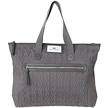 Buy Et DAY Birger et Mikkelsen Drape Quilt Shopper Bag, Grey Online at johnlewis.com