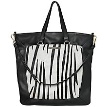 Buy Et DAY Birger et Mikkelsen Pony Shopper Bag, Black/White Online at johnlewis.com