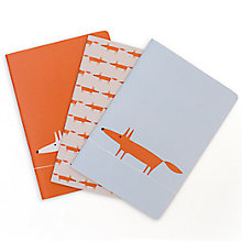Buy Scion Mr Fox Notebooks, Set of 3 Online at johnlewis.com