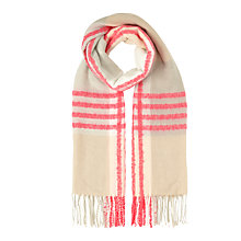 Buy Miss Selfridge Check Fluoro Scarf. Pink Online at johnlewis.com
