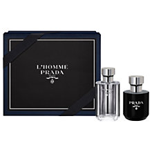 Buy Prada L'Homme 50ml Eau de Toilette Fragrance Gift Set Online at johnlewis.com