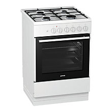Buy Gorenje K613E17WKD Dual Fuel Cooker, White Online at johnlewis.com