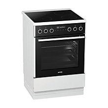 Buy Gorenje EI647A21W2 Induction Hob Electric Cooker, White Online at johnlewis.com