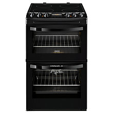 Buy Zanussi ZCV46200BA Double Electric Oven, Black Online at johnlewis.com