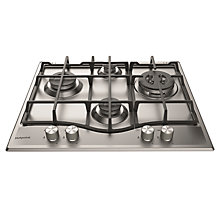 Buy Hotpoint  PCN641 Gas Hob, Stainless Steel Online at johnlewis.com