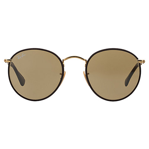 Buy ray ban rb3475q round craft sunglasses john lewis for Ray ban round craft