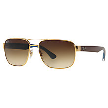 Buy Ray-Ban RB3530 Classic Sunglasses, Gold/Brown Gradient Online at johnlewis.com