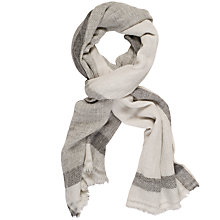 Buy Chesca Cashmere Scarf, Ivory/Grey Online at johnlewis.com